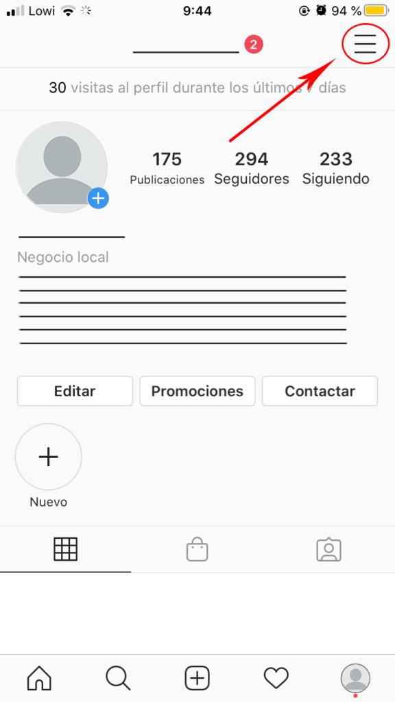 Perfil -Instagram para empresas